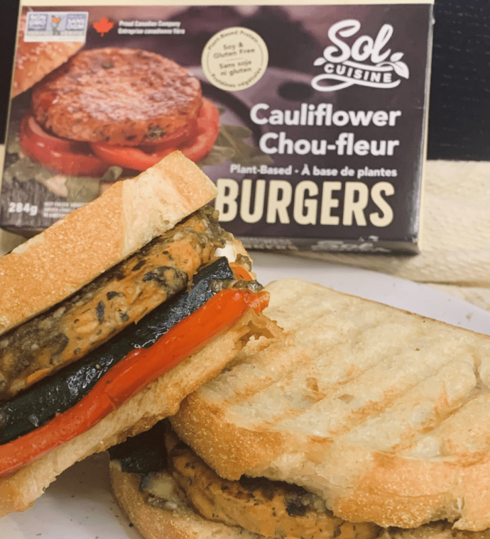 Cauliflower Burger Panini