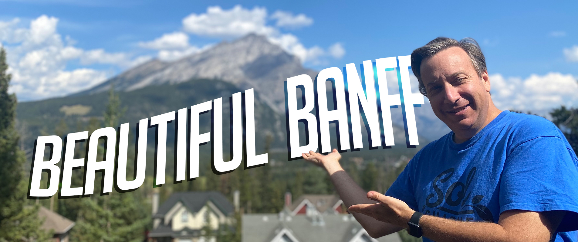 Photo of Dror with Banff in background